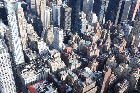 A Veiw of Manhattan From the Empire State Building Stock Photo - 12408268