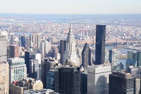 financial district: A Veiw of Manhattan Skyline Stock Photo