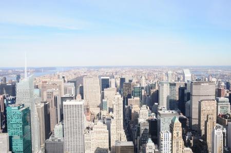A Veiw of Manhattan Skyline Stock Photo