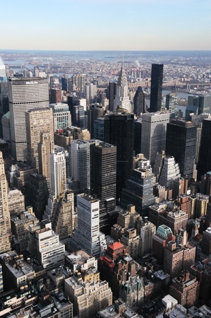 A Veiw of Manhattan From the Empire State Building Stock Photo - 12408269