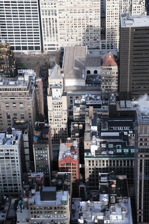 A Veiw of Manhattan Rooftops Stock Photo - 12408272
