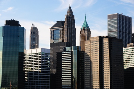 veiw: A Veiw of Downtown Manhattan on a winters day  Stock Photo