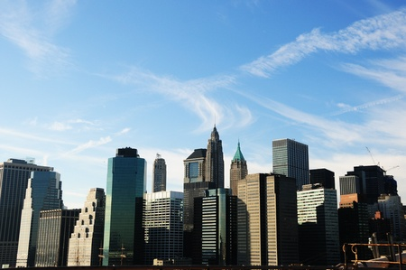 A Veiw of Downtown Manhattan on a winters day Stock Photo - 12408276