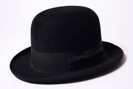 Black Homburg Hat made of Fur Felt.
