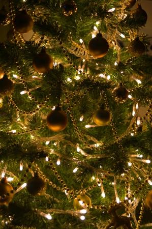 Christmas Decoration on a Christmas Tree Stock Photo