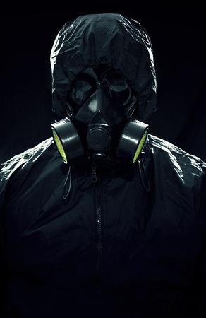 A portrait of a hazmat suit Stock Photo