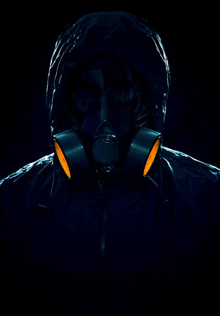 A portrait of a hazmat suit photo