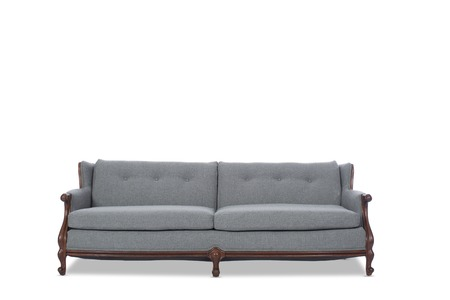 couch: Vintage Gray Couch