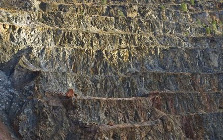 pyrite mine open pit photo