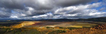 tailings: panoramic view of tailings pond at Rio Tinto, Spain