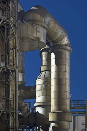 pipelines in a acid chemical plant abandoned photo