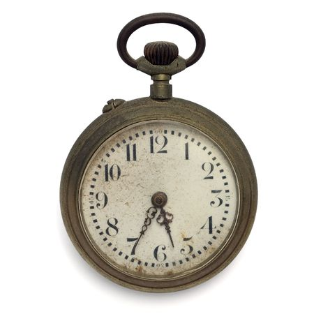 pocket watch: old pocket watch by the time  Stock Photo