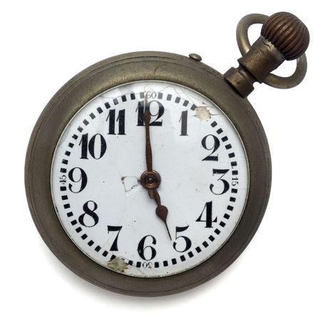 old pocket watch by the time  photo