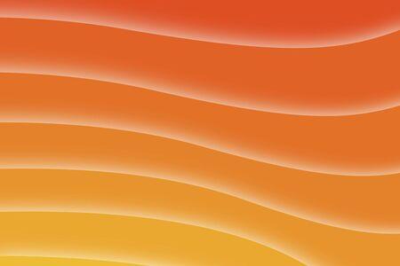 現代デジタル波形水平とオレンジ色の背景 写真素材