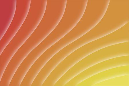 現代デジタル波形とオレンジ色の背景
