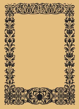 vintage ornamental borders in black and white vector Vector