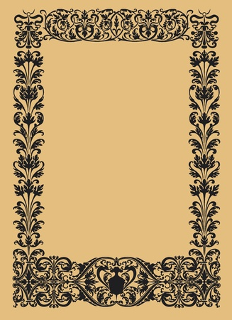 vintage ornamental borders in black and white vector Vector