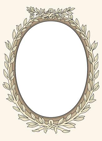 flourish frame: vintage photo frame ornamental vector in seventeenth-century French  style Illustration
