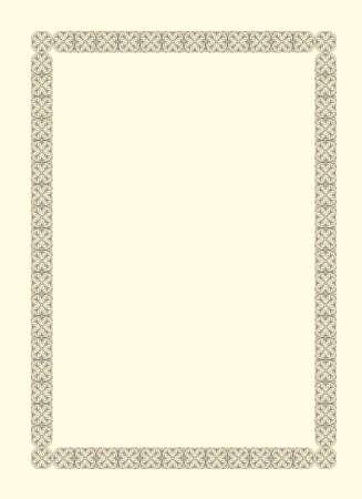 Vintage marco ornamental de estilo francés del siglo XVII