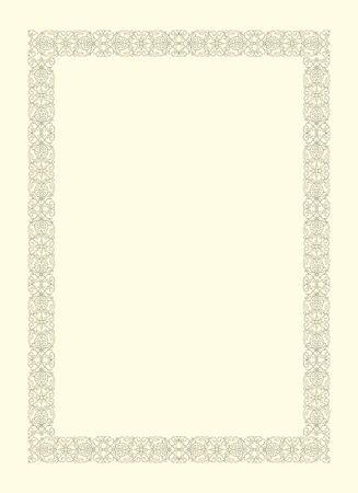 vintage frame ornamental in seventeenth-century French style Vector