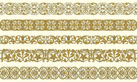 adornment: Insieme di cinque bordi decorativi