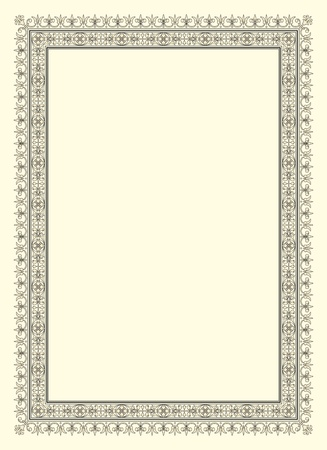 flower borders: vintage photo frame ornamental vector in seventeenth-century French style
