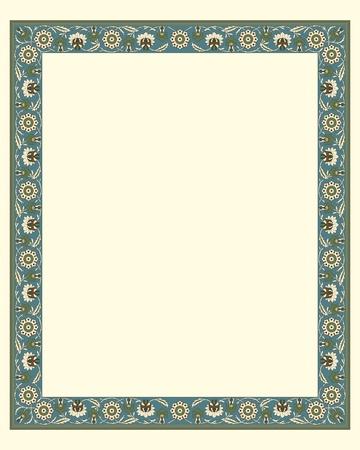 arabesque border frame illustration file Vector