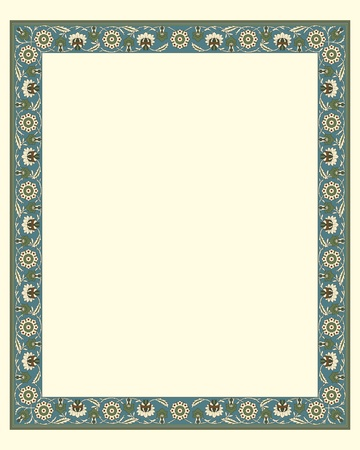 arabesque wallpaper: arabesque border frame illustration file