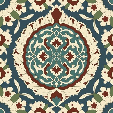 Arabesque seamless pattern in editable. Vector