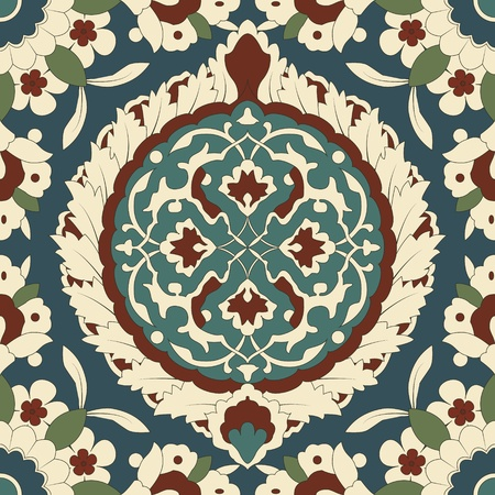 alhambra: Arabesque seamless pattern in editable. Illustration
