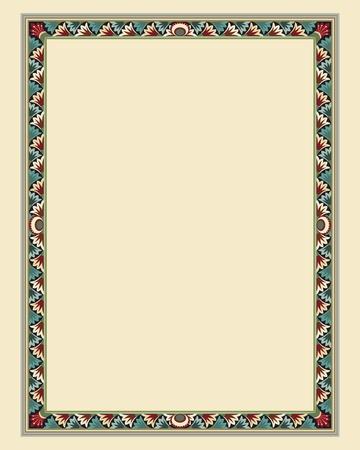 arabesque wallpaper: arabesco bordo del frame file di illustrazione