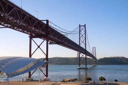 lisbonne: view of the bridge April 25 Lisbon Stock Photo