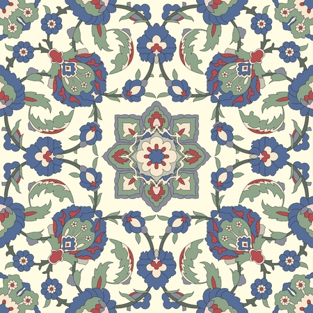 alhambra: Arabesque seamless pattern in editable vector file