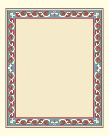 arabesque border frame vector illustration file Stock Vector - 10438458