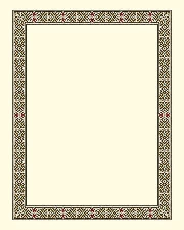 arabesque border frame  Иллюстрация