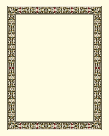 alhambra: arabesque border frame  Illustration