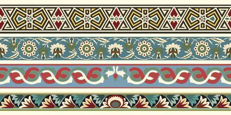 Set of four decorative arabesque borders