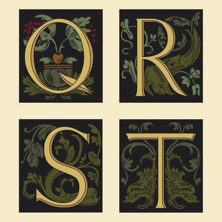 Sixteenth-Century alphabet Q R S T