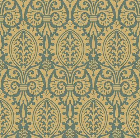編集可能なベクトル ファイルで古典的なシームレス パターン イエロー  イラスト・ベクター素材
