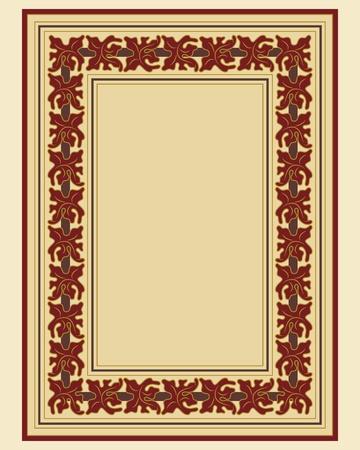 cenefas flores: Vintage de marco borde ornamental en archivo vectorial editable