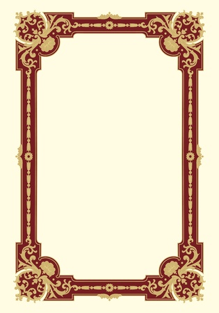 Ornamental border frame vintage in editable vector file