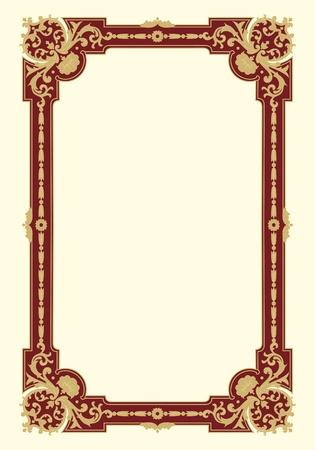 border frame: Ornamental border frame vintage in editable vector file