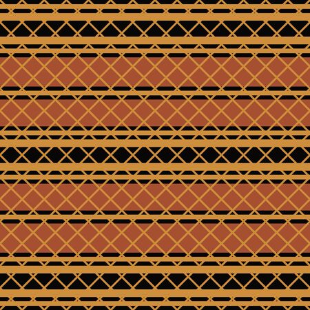 Native american seamless pattern in editable vector file Vector