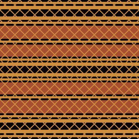 cherokee: Native american seamless pattern in editable vector file Illustration