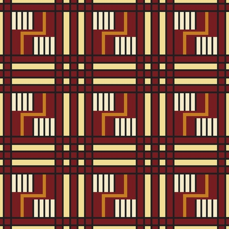 cherokee: Native american seamless pattern in editable vector file Illustration