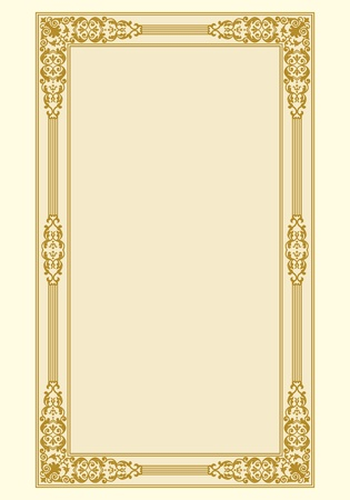 Ornamental border frame vintage in editable file Vector