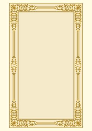 voluptuous: Ornamental border frame vintage in editable file