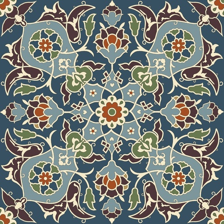 alhambra: Arabesque seamless pattern in editable file