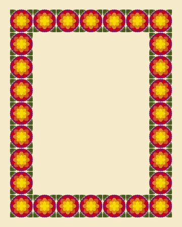 Art nouveau border photo frame in editable file Vector
