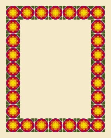 Art nouveau border photo frame in editable file Stock Vector - 10981636